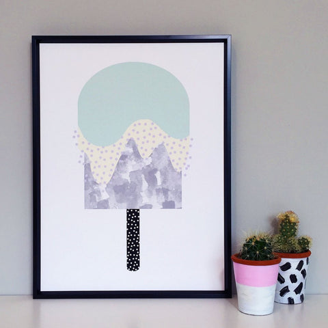 Minty Ice Lolly Print
