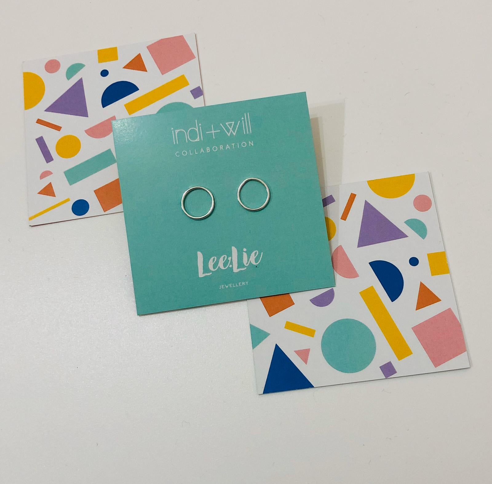 Indi + Will X Lee:Lie  - collaboration - Shapes - Circle stud earrings