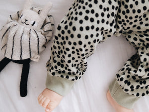 Another Fox: Mint Dot Terry Towelling Baby Romper