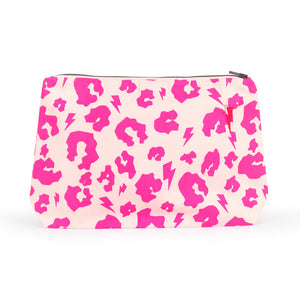 Swag Bag – Neon Pink Leopard and Lightning Bolt Print