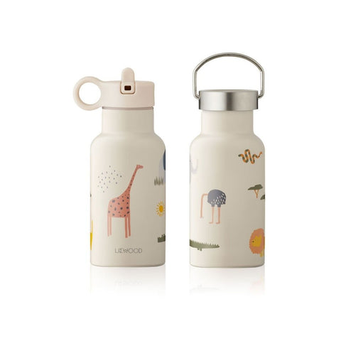 Liewood -Anker Water Bottle - 350 ml - Safari sandy mix