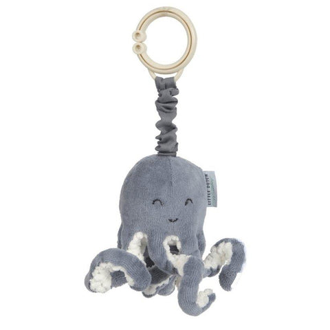 Little Dutch - Pull and Shake Octopus - Ocean Blue