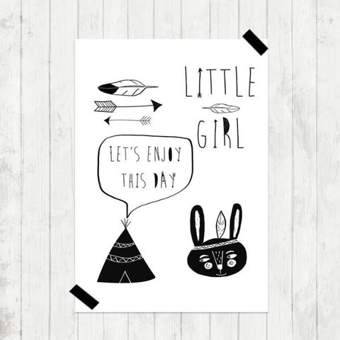 A3 Poster - Little Girl
