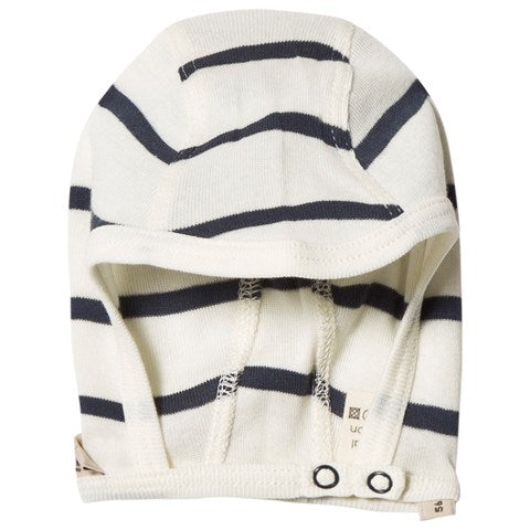 Baby Hat - Blue & White Stripe