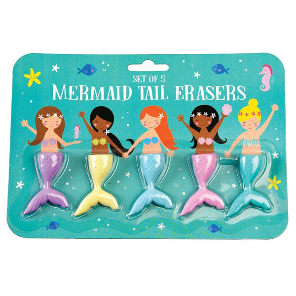 Mermaid tail erasers (set of 5)