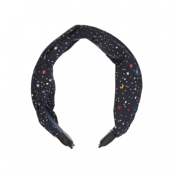 Space print wide alice band