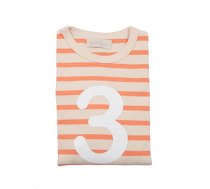 Peaches & Cream Breton Striped Number 3 T Shirt