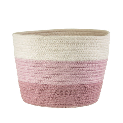 Nevada Pink Rope Basket