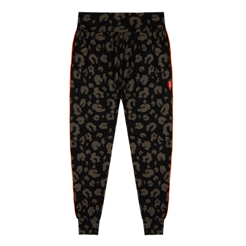 Adult Chill Out Joggers Black Leopard and Lightning Bolt