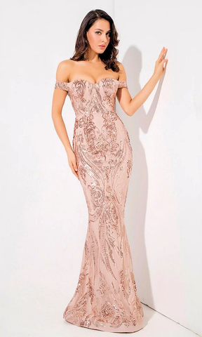 Charlette Sequin Luxe Gown