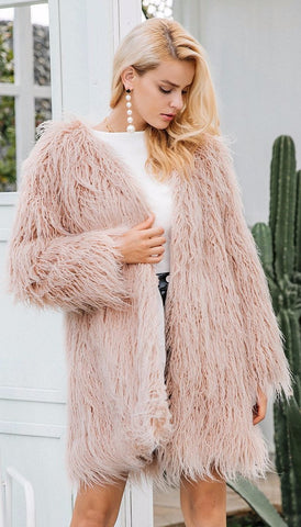 Angel Oversize Faux Fur Coat