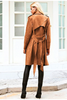 Leanna Suede Trench Coat