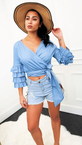 Tess Denim Crop Top
