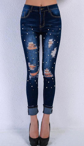 Cathy Pearly Skinny Jeans