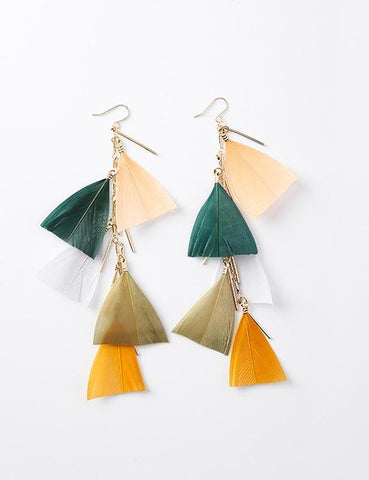 Autumn Feathered Earrings