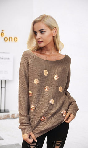 Roxie Sequin Sweater