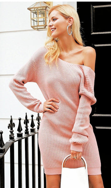 Lilith Draped Sweater Dress