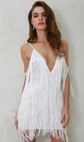 Clara Fringe Lace Dress