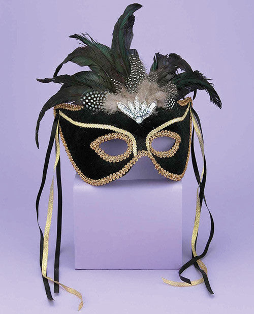 Karneval Style Female Mask - Black