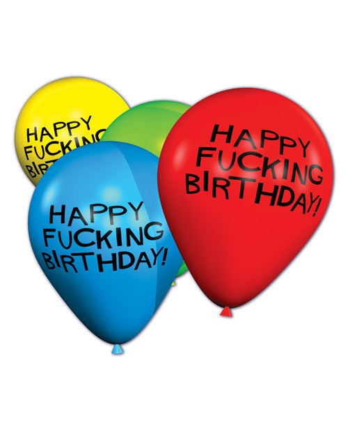 "11"" Happy Fucking Birthday Balloons - Bag of 8"