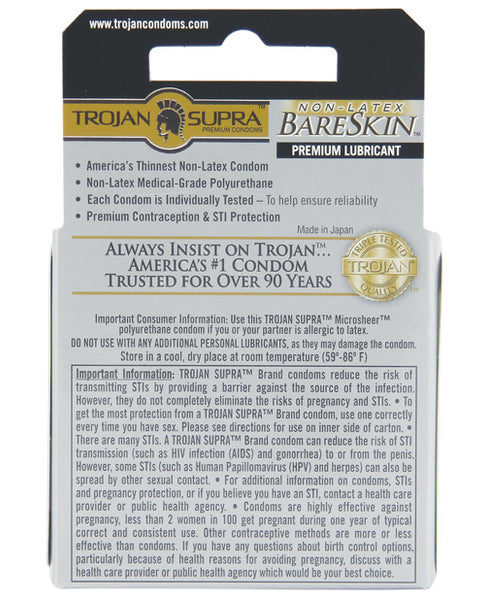 Trojan Supra Ultra-Thin Polyurethane Condoms