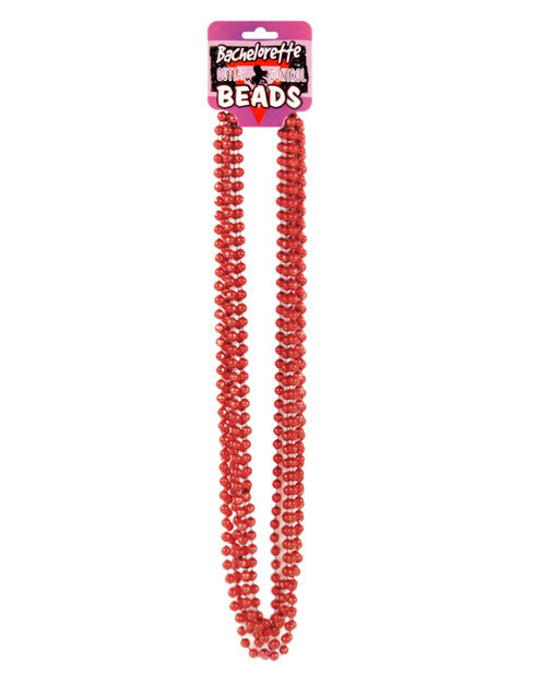 Beads - Metallic Red Pack of 6
