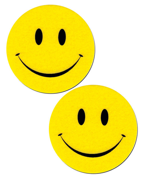 Smiley Face - Yellow/Black O/S