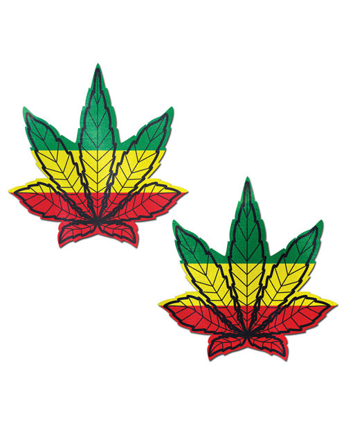 Rasta Weed Nipple Pasties