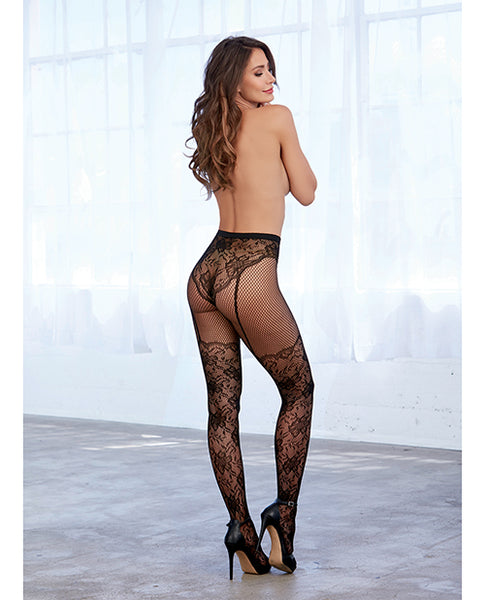Lace and Fishnet Pantyhose