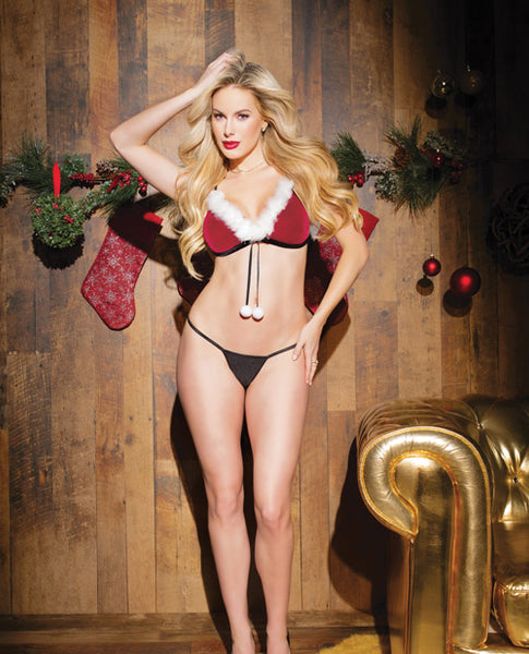 Holiday Velvet & Mesh Convertible Babydoll