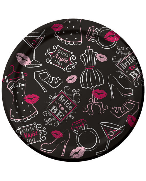 "Bride to Be Bridal Bash 7"" Plates - Pack of 8"