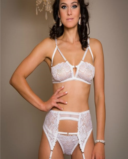 CLEOPATRA BRA TOP, GARTER BELT & THONG