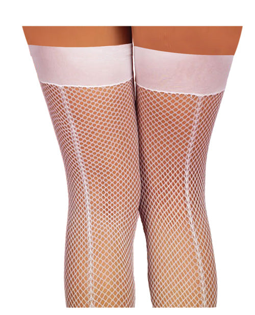 Fishnet Thigh Highs w/Back Seam