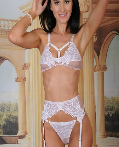 ERIS BRA TOP, GARTER BELT & THONG