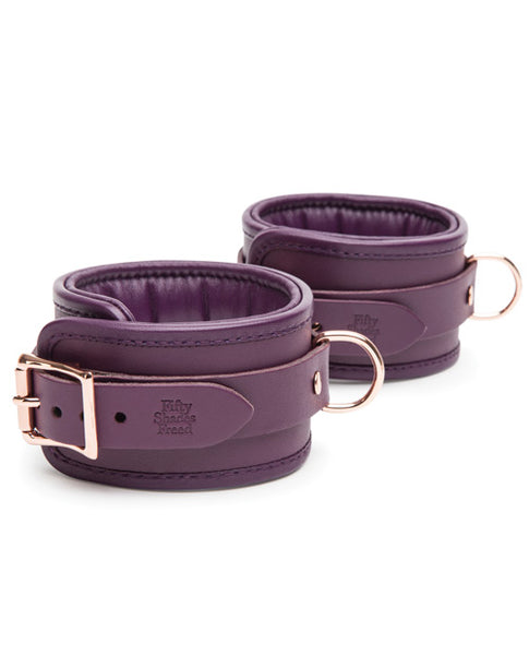 Fifty Shades Cherished Collection Leather Ankle Cuffs