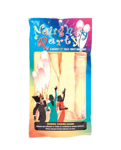 "22 ""Naughty Party Penis Balloons Pack of 8"