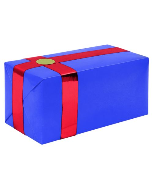 Gift Wrapping For Your Purchase (Blue w/Red Ribbon)