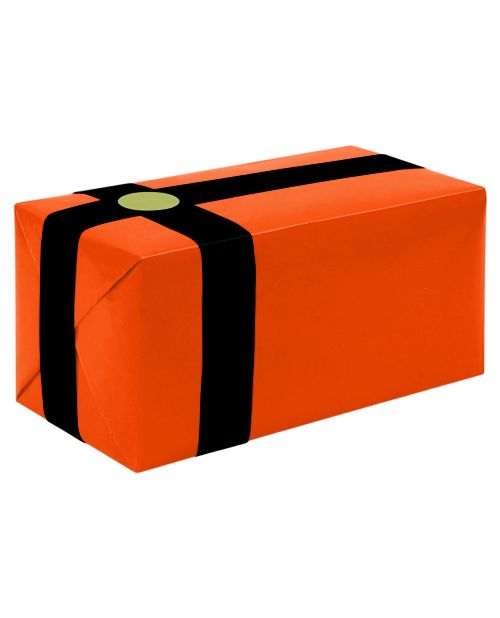 Gift Wrapping For Your Purchase (Orange w/Black Ribbon)