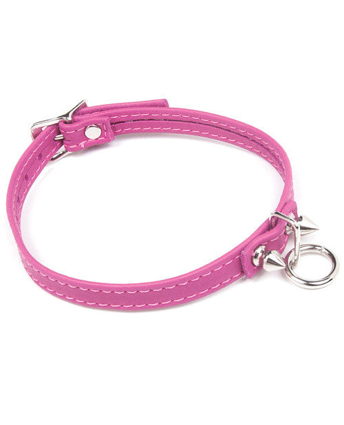 Pink Leather Choker