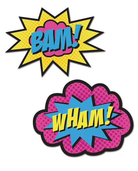 Wham/Bam Superhero Pasties - 2 Pair