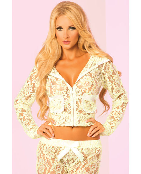 Loungewear Luxurious Lace Pocket Hoodie