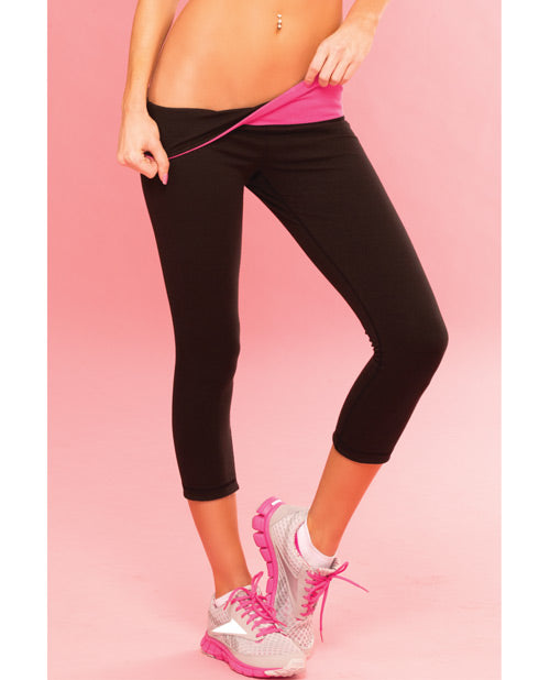 Sweat Yoga Pant Thick Reversible for Support & Compression w/Secret Pocket