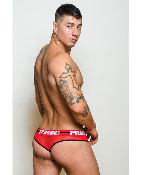 Pride Maui Mesh Thong Red