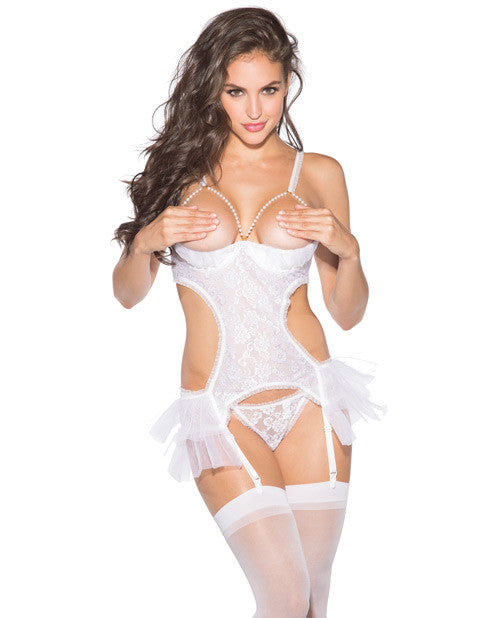 Lace and Net Babydoll with Hose