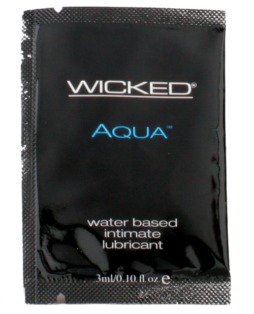 Wicked Sensual Care Aqua Packette Waterbased Lubricant - .1 oz Fragrance Free