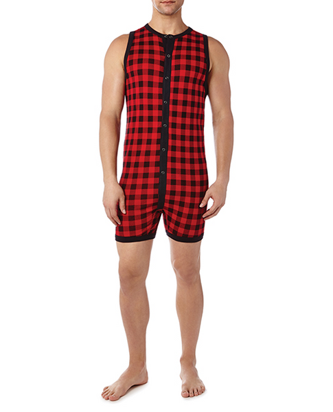 Men plaid pajamas