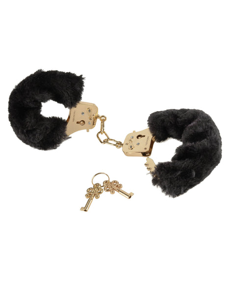 Furry Cuffs - Gold