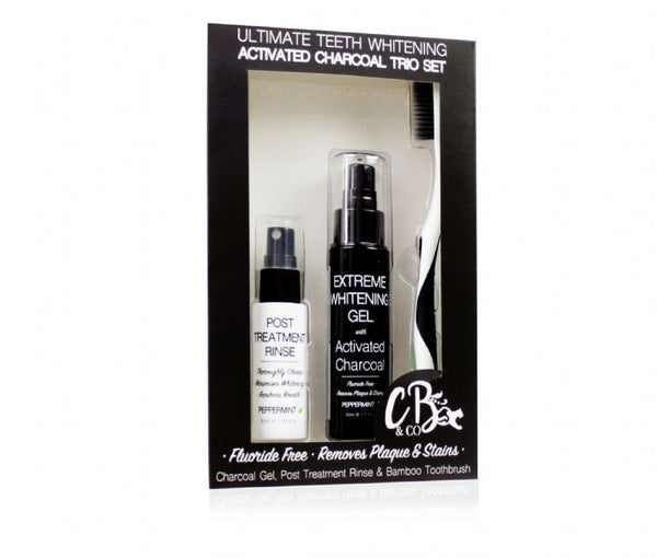 Ultimate Teeth Whitening Activated Charcoal Trio Set