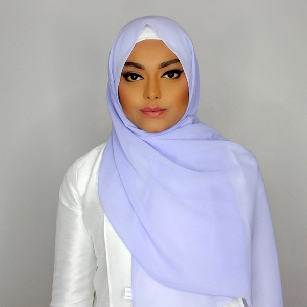 Cornflower blue hijab
