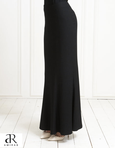 stretchy mid-weight crepe skirt